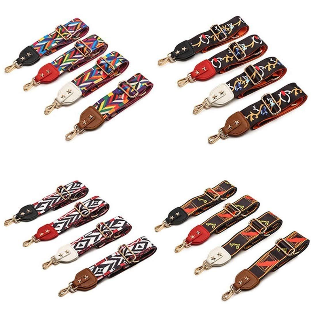 Widen Colorful Strap Rainbow Belt Bags For Accessories Adjustable Shoulder Bag Strap Hanger Handbag Strap Ribbon Replacement brown leather1