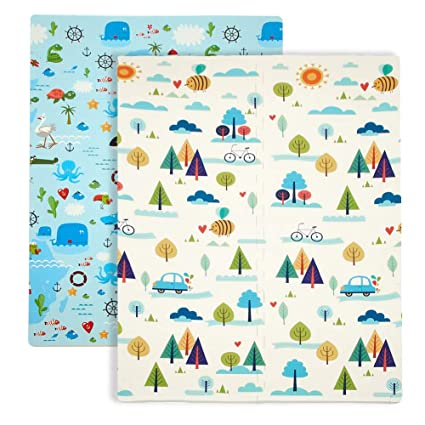 Baby Play Mat, XPE Foam Double Sided Floor Mat Soft Anti-Skid Large Baby  Gym Mat Area Rugs Waterproof Non-Toxic Safe Yoga Mat Exercise Mat (71