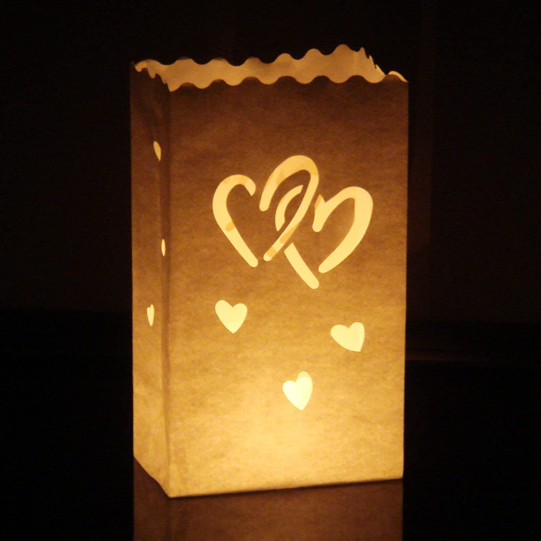 Luminaria Party /& Feier Liebe Schmetterlinge /… 10 Stk Candle Bags Lichtt/üten