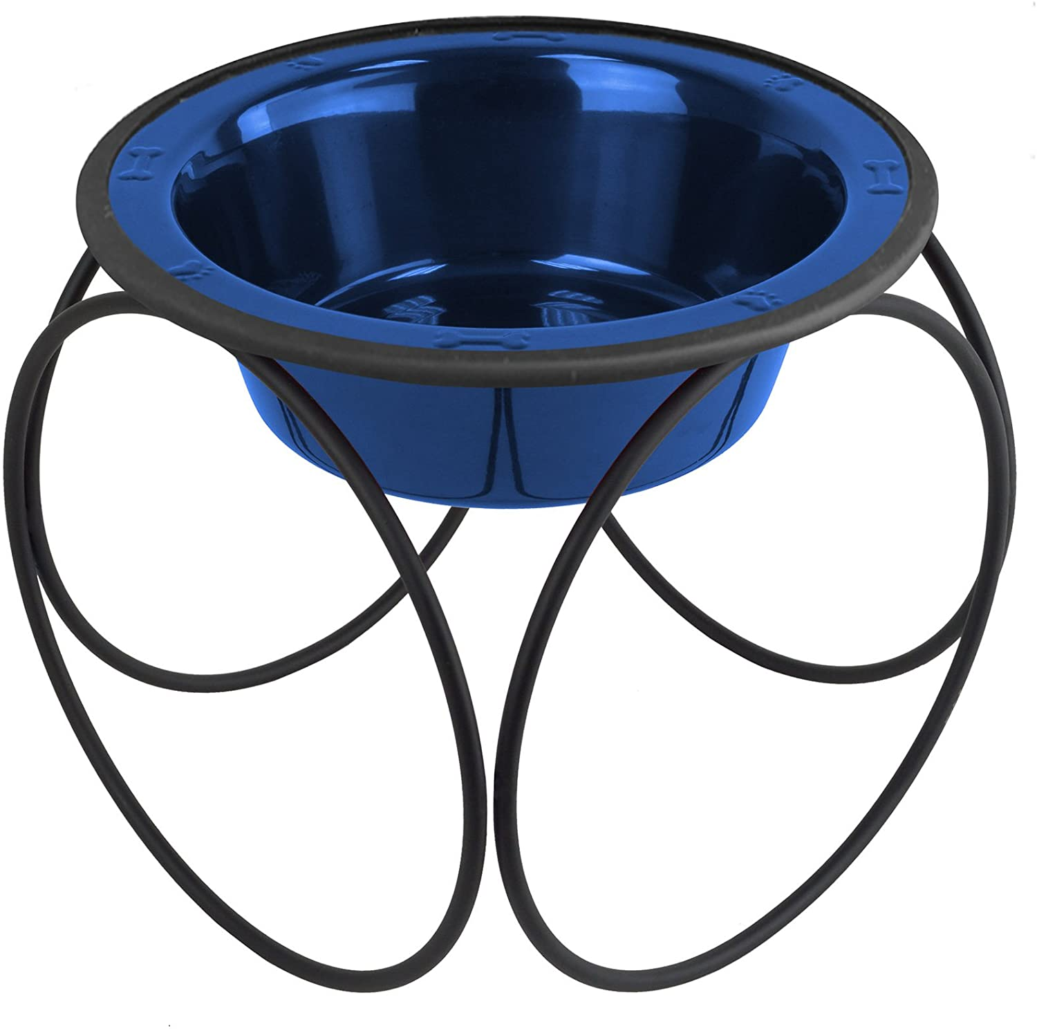 Platinum Pets Single Olympic Diner Feeder with Stainless Steel Dog Bowl