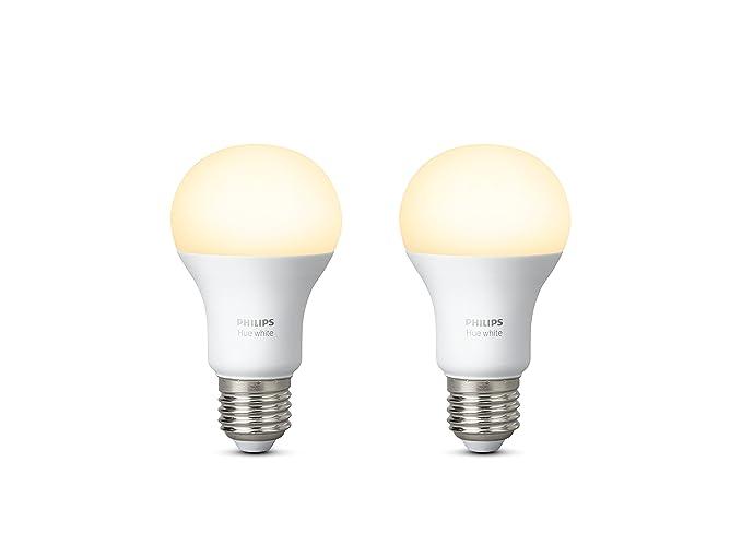 Lampadine A Led Luce Calda.Philips Lighting Hue Lampadine Led E27 9 W Luce Calda Bianco 2 Pezzi Compatibile Con Amazon Alexa Apple Homekit E Google Assistant