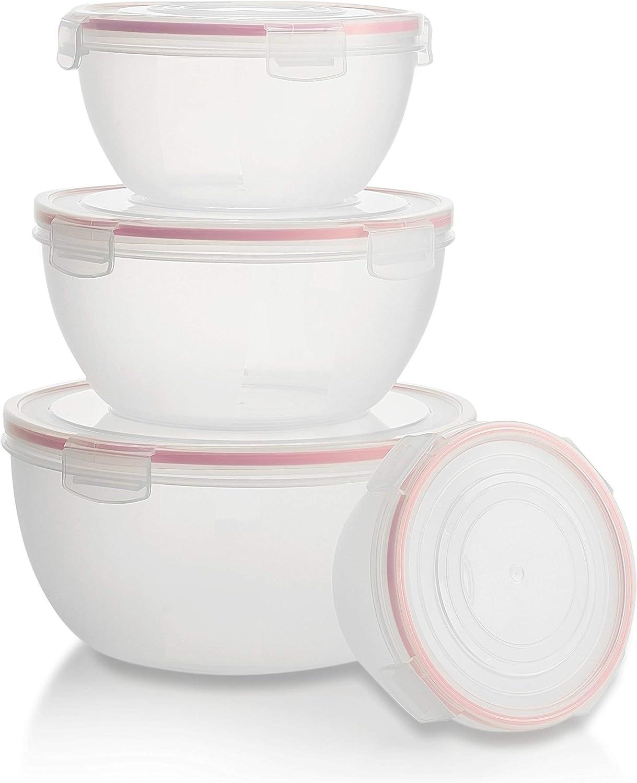 Biokips Insalatiera 100/% ermetica lavabile in lavastoviglie Trasparente