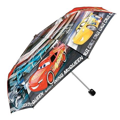 Paraguas Disney Cars Niño - Mini Paraguas con Rayo Mcqueen Cruz Ramirez y Jackson Storm -