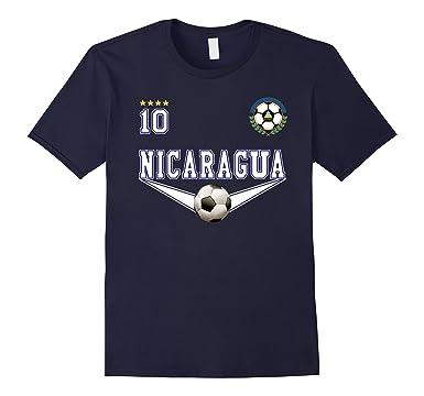 Mens Nicaragua soccer Tshirt - Camiseta de futbol de Nicaragua 2XL Navy