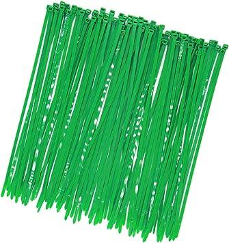 20cm NYLON PLANT SUPPORT GARDENER/'S TIE PACKS OF BRIGHT GREEN GARDEN ZIP TIES