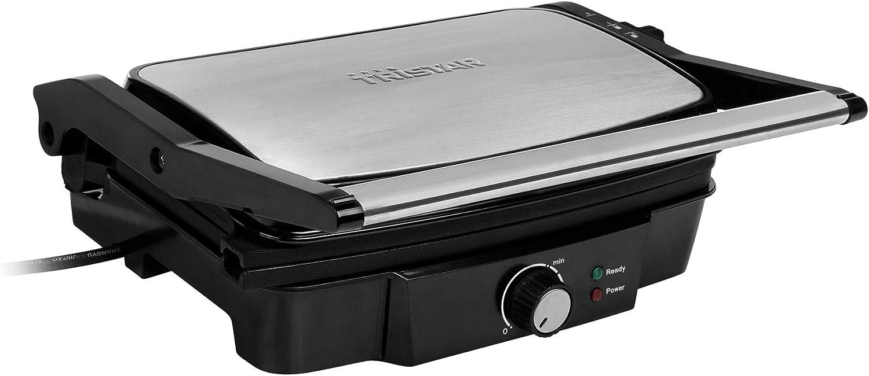 Tristar GR-2852 Grill de contacto con termostato, 1500 W, Negro