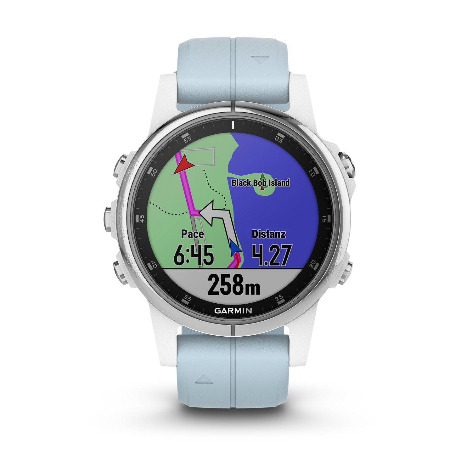 Garmin Fenix 5S Plus - Reloj GPS multideporte, color azul (celeste): Amazon.es: Electrónica