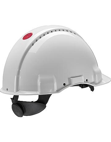 Casque de sécurité 3M G3000 blanc, ventilé, avec harnais à crémaillère et  basane synthétique 478540f12428