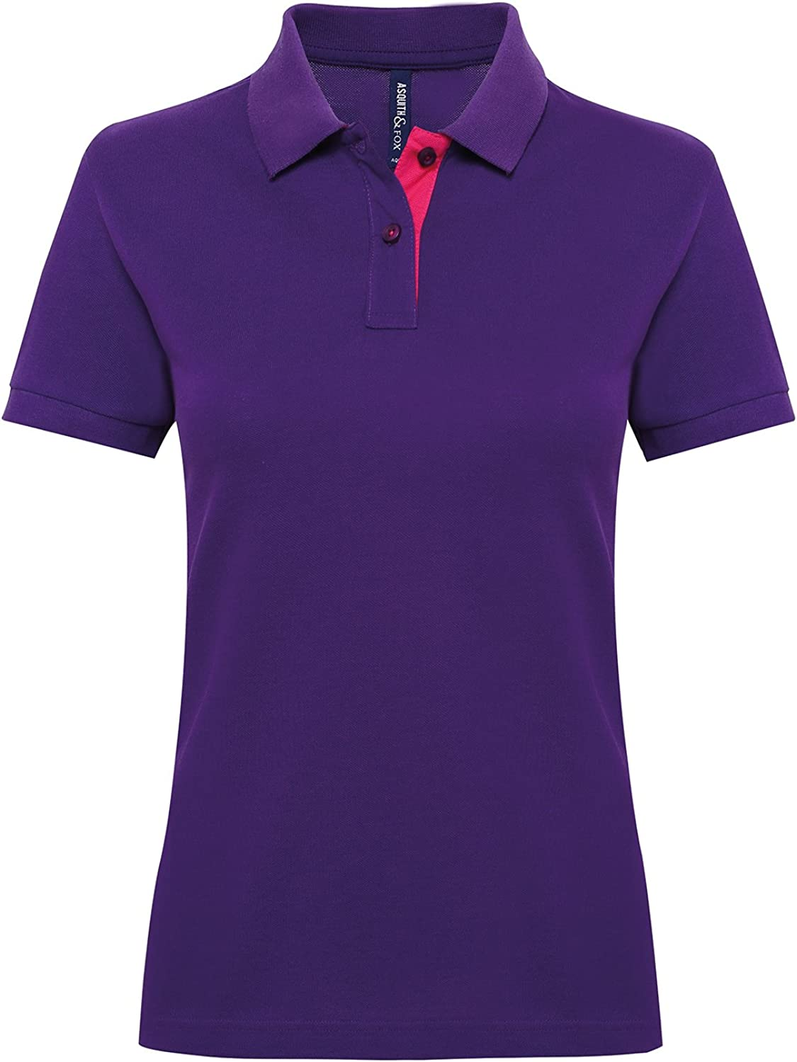 Asquith /& Fox Mens Classic Fit Performance Blend Polo T Shirt 25 Colours Avail