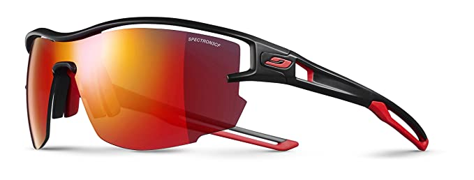 f169be6f71 Julbo Unisex's Aero Sunglass, Black/Red, One Size: Amazon.co.uk: Sports &  Outdoors