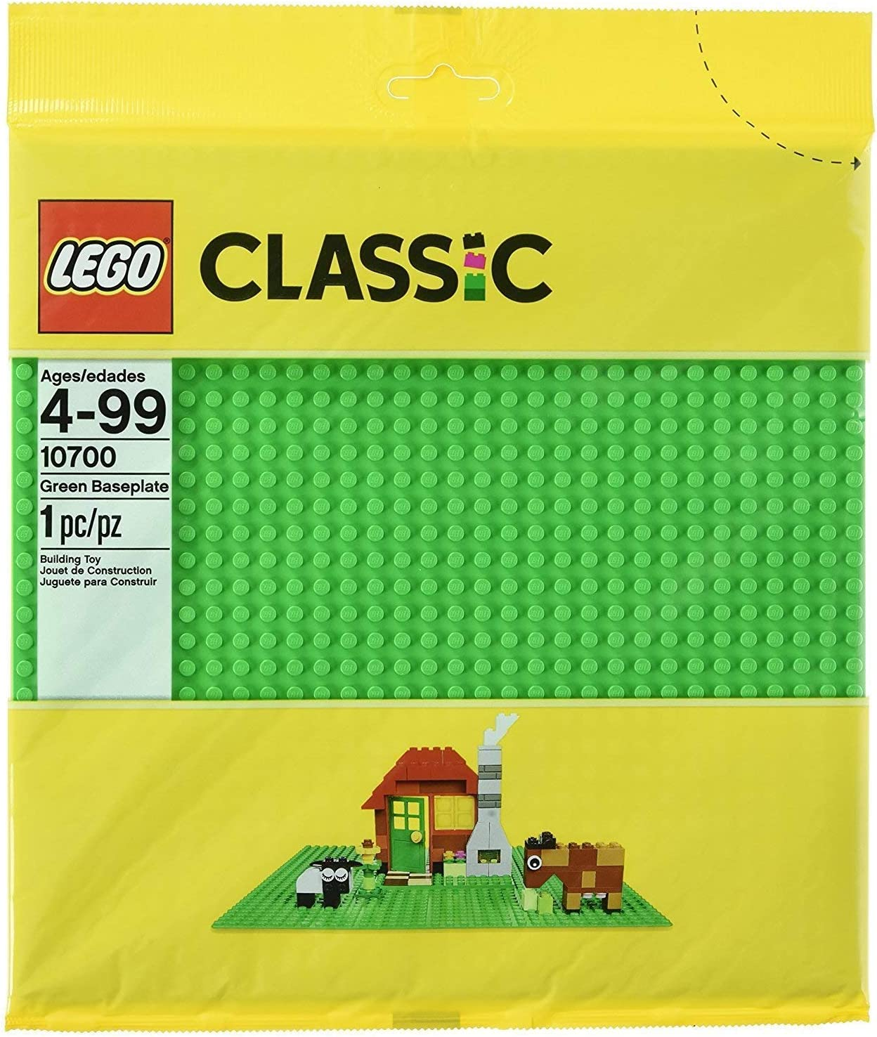 LEGO Classic Green Baseplate Supplement - Pack of 4