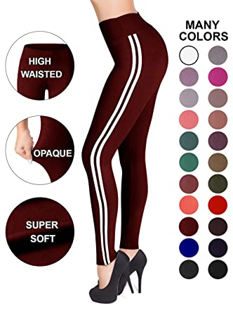 c0ccf561d282cb Image Unavailable. Image not available for. Color: Sejora Satina High  Waisted Leggings - 25 Colors - Super Soft Full Length ...