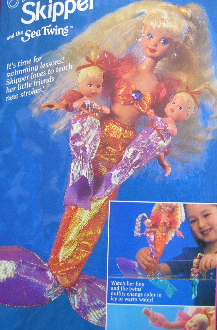 1993 Barbie MERMAID SKIPPER /& Sea Twins Dolls Mattel 10506