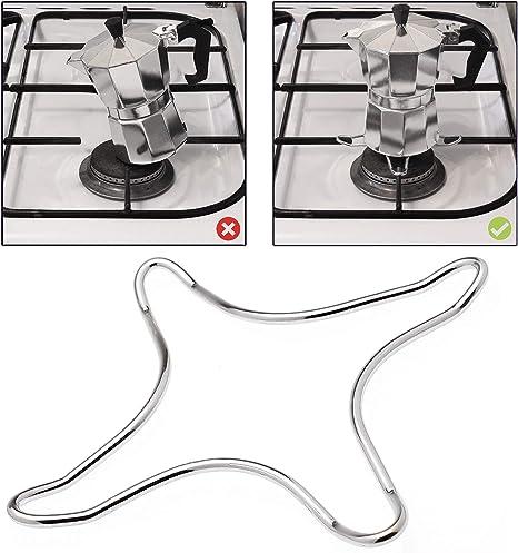 Amos H - Reductor de anillos de gas para hornillo de cocina o cafetera, acero inoxidable: Amazon.es: Hogar