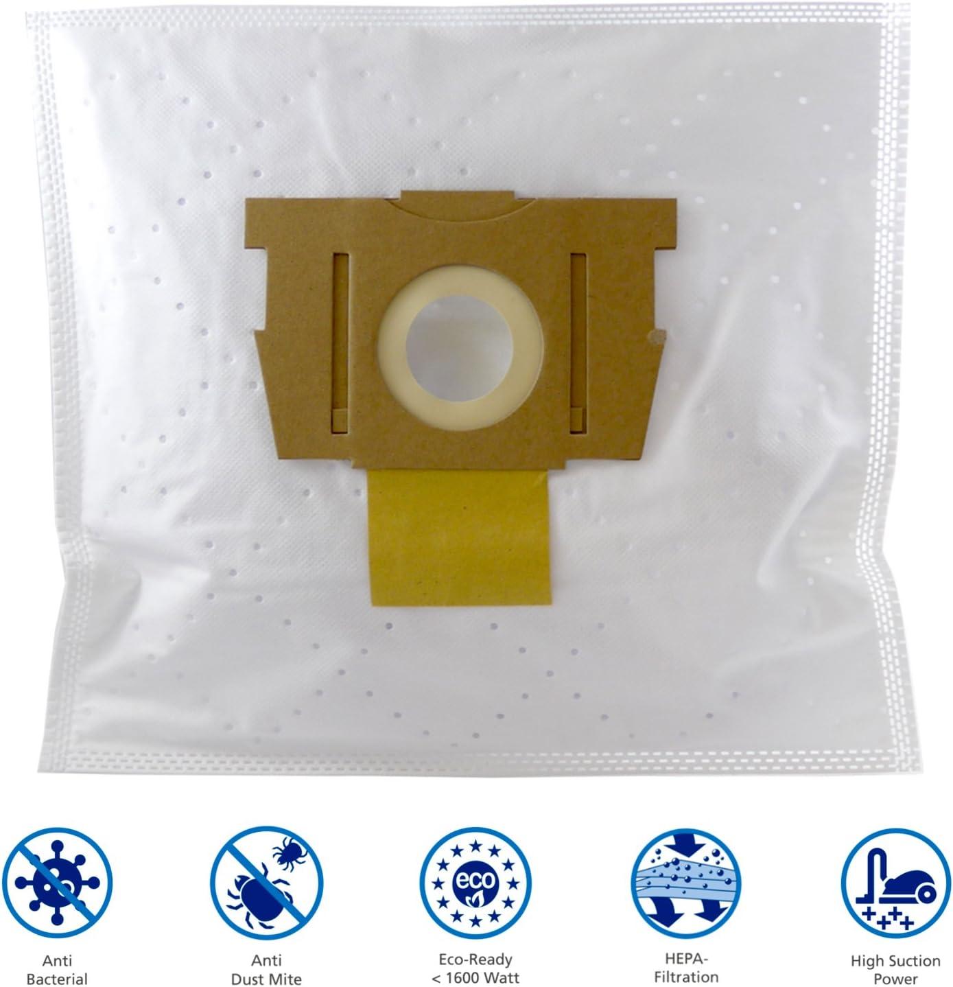 1/Hepa de filtro para Rowenta Silence Force Extreme ro5911/Da RO 5911/de MicroSafe/® 10 bolsas de basura 10/bolsas para aspiradora