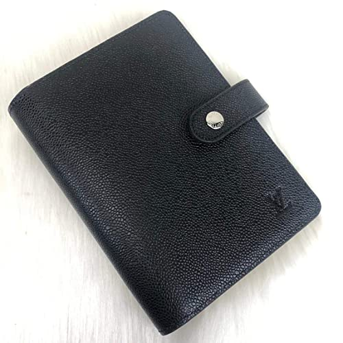 727ee4d11dd Amazon.com: Louis Vuitton Black Taiga Leather Agenda Book Cover ...