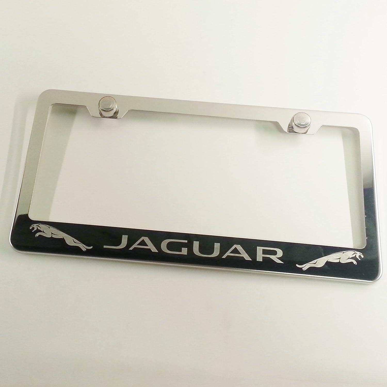 S.Caps 1x 4 RING LOGO 3D Emblem BLACK Stainless License Plate Frame RUST FREE