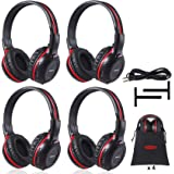 4 Pack of Vehicle Headphones Support Car DVD Player Car Headphones for Rear Entertainment SystemDurable and Flexible for…