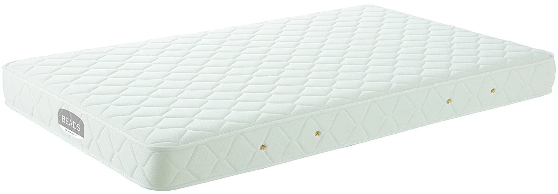日本ベッド製造 マットレス ホワイト Sサイズ ビーズポケットベーシックS[W98L195] 11272マットレス B07FGX8HTJ  Sサイズ