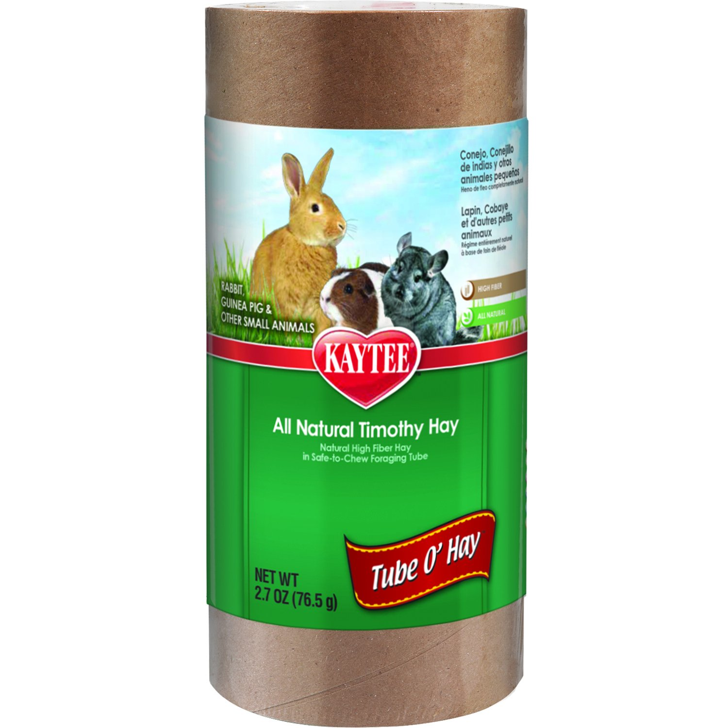 Kaytee Tube O' Hay Medium 4-Inch Treat, 2.7-oz tube