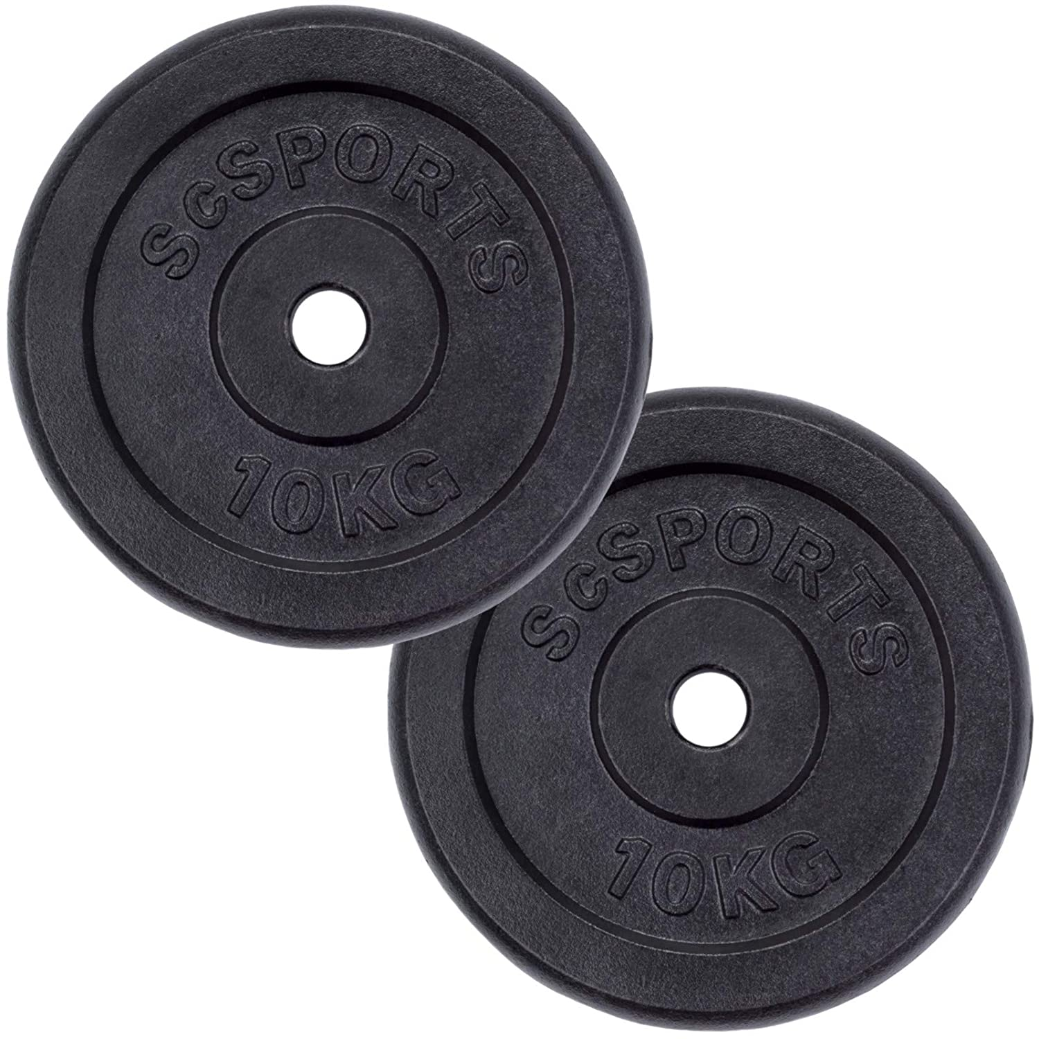2 x 10 Kg SC Sports Barbell Disc Plate Weight