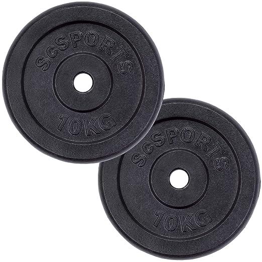 ScSPORTS - Pesas en Forma de Disco con Orificio de 30 mm para ...