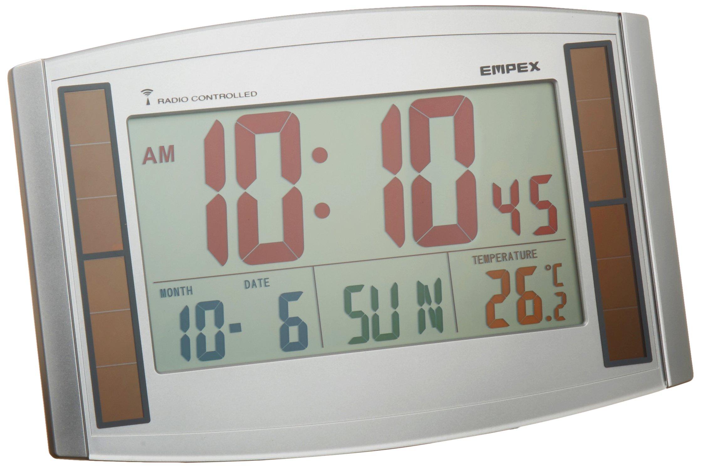 EMPEX ( Enpekkusu ) color radio clock Solar Eco'uŠ|combined LC-821 Shine Silver
