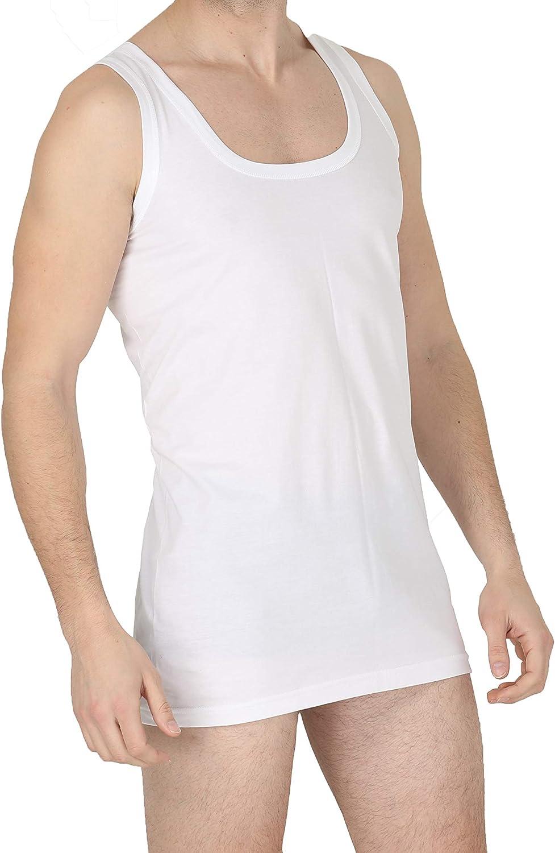 biancheria intima da uomo 100/% cotone Confezione da 3 gilet ultra morbido da uomo