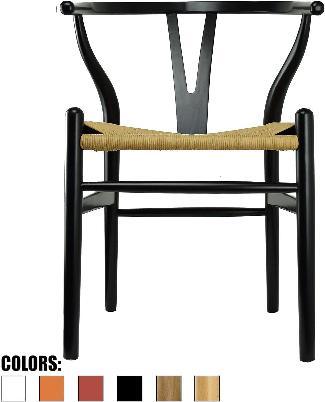 2xHome CH-BoneChair(Black) Dining Chair