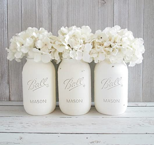 Amazon Com Set Of 3 Mason Jar Centerpieces Bridal Shower