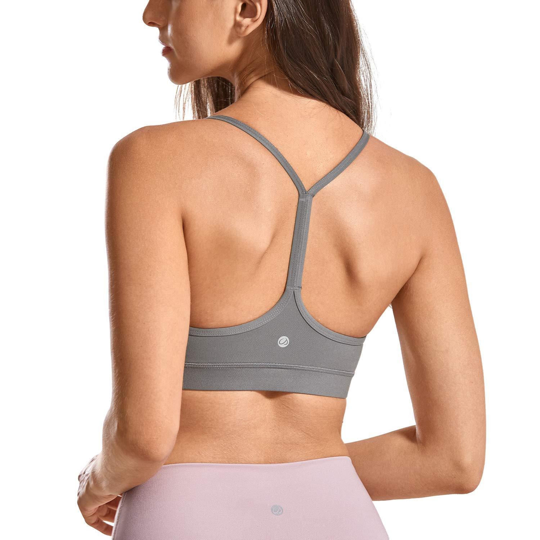 CRZ YOGA Sujetador Deportivo Sujetador de Fitness Yoga para Mujer sin Aros con Relleno