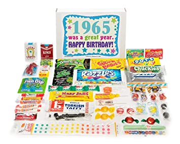 Woodstock Candy 1965 54th Birthday Gift Box Mix Of Nostalgic Retro From Childhood For