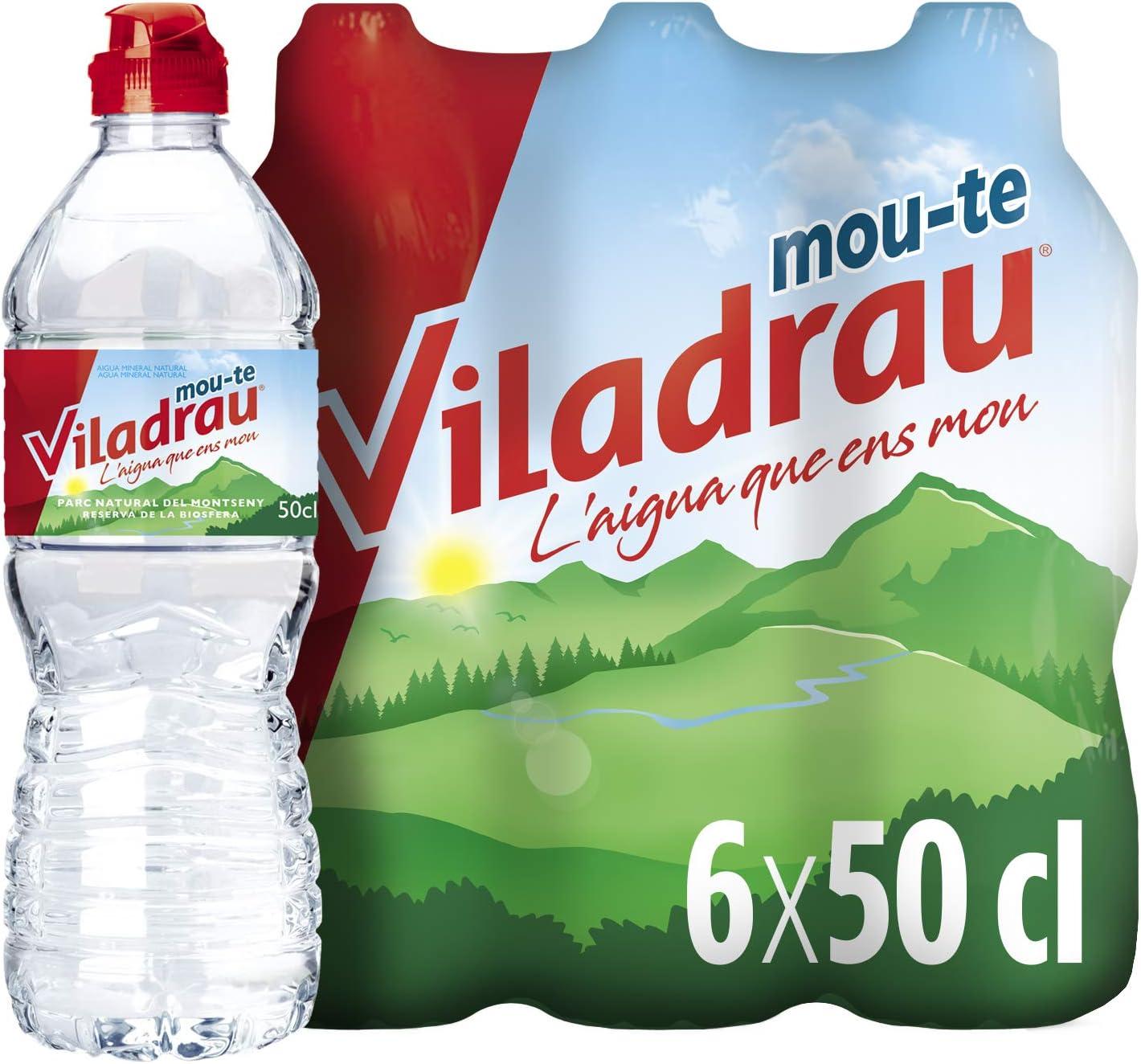 Viladrau Agua mineral natural - 6 Botellas x 50 cl: Amazon.es: Alimentación y bebidas