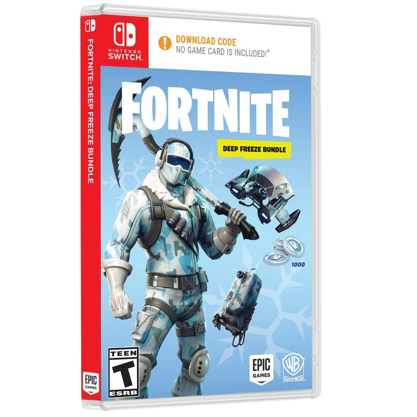 Amazon Com Fortnite Deep Freeze Bundle Nintendo Switch Video Games