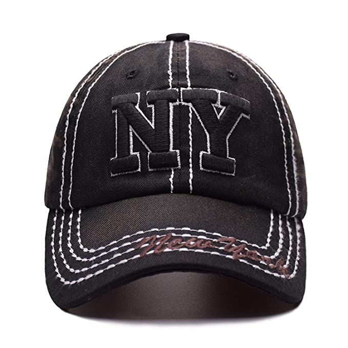 2019 New York Washed Old NY Baseball Cap Summer Hat Men Gorra Summer Cap for Women Bone Trucker Hats at Amazon Mens Clothing store: