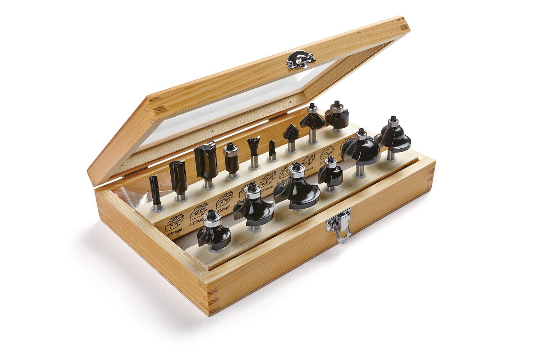 Irwin Tools 1901048 Marples Deluxe Router Bit Set (15 Piece) by IRWIN