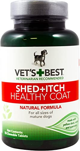 Veterinarian s Best Healthy Coat Shed and Itch Relief Chewable Tablets 2 Pack – 100 Tablets