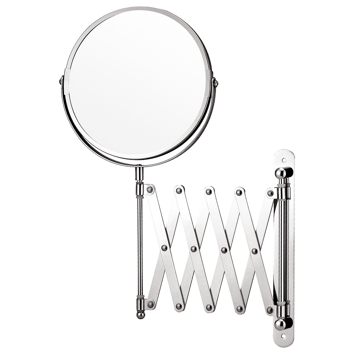 Taylor BrownR Magnifying Wall Mounted Makeup Mirror Extending Shaving Cosmetic Double Sided Bathroom Swivel Vanity Amazoncouk Kitchen