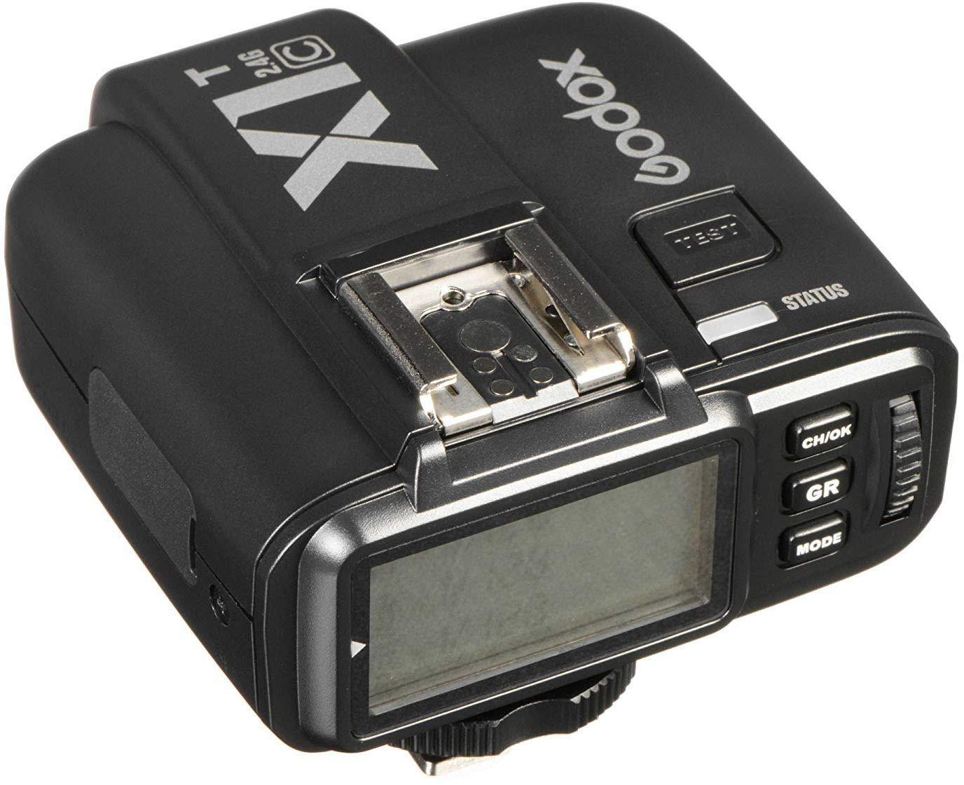Godox X1T/ /C trasmettitore senza fili da 2,4/GHz Hot Shoe Flash Trigger con 1//8000s HSS 32/Canali TTL per Canon DSLR 440d//500d Set//Set 700d//600d//60d//6d//70d//7d//760d//1d//5d//5d II//5d II//5d III Set nero
