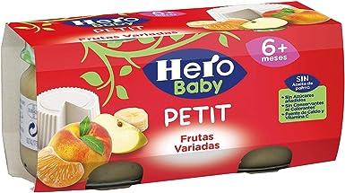 Hero Baby Petit Postre de Queso con Frutas Variadas para Bebés a partir de 6 meses Pack de 2 x 80 g: Amazon.es: Alimentación y bebidas