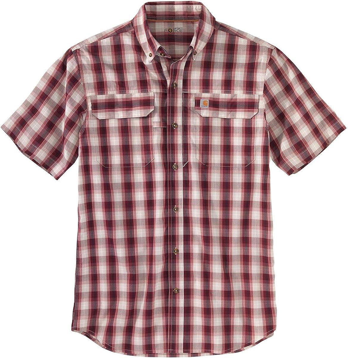 Carhartt Mens Rugged Flex Rigby Short Sleeve Work Shirt
