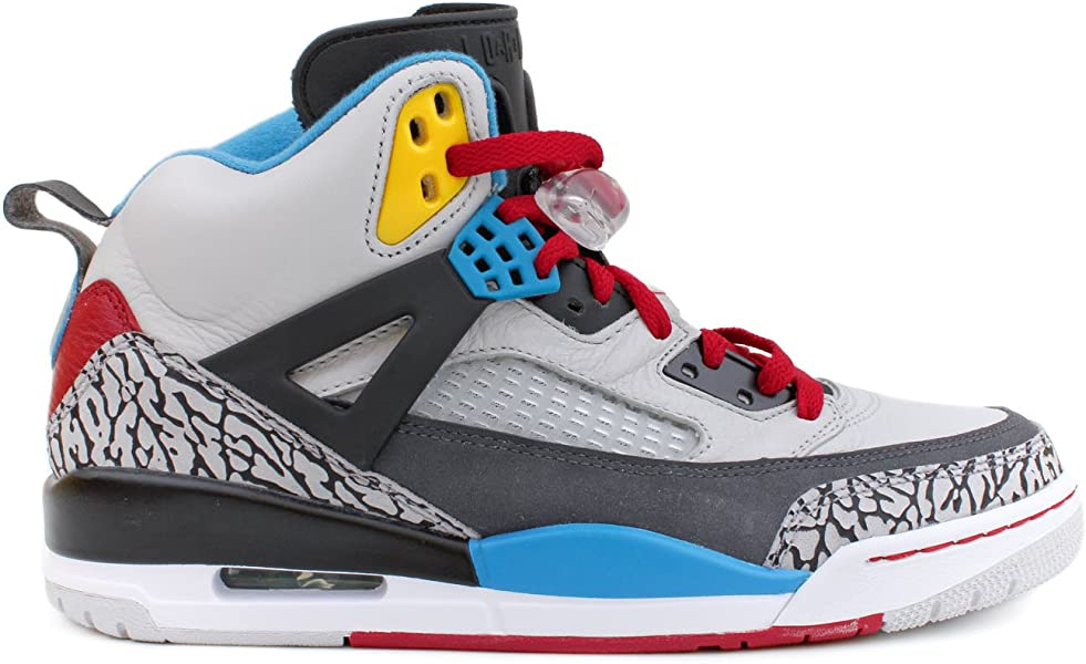 reputable site 31651 67d6c Men s Nike Jordan Spizike Bordeaux 315371 070 Natural Grey Basketball  Sneaker Mouse over image to zoom