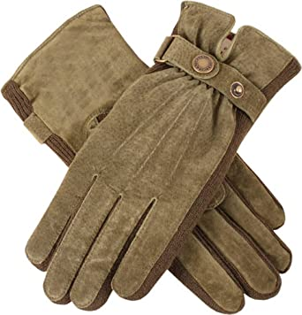 6a78c62b450 Dents Womens Laura Strap Detail Suede Gloves - Sage Green at Amazon ...