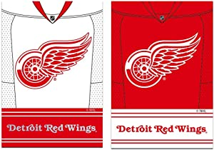 NHL DS Suede Foil Garden Jersey Banner Flag (Set of 2) NHL Team: Detroit Red Wings