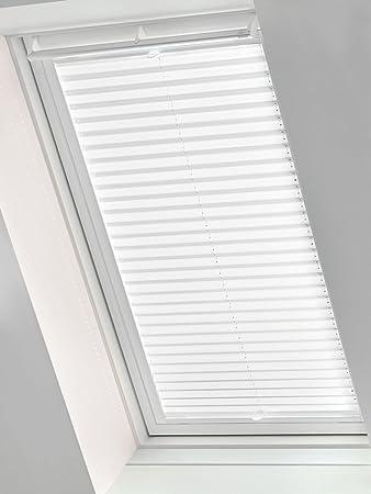 Amazon De Gardinia 33781 Easyfix Dachfenster Plissee Stoff Weiss F08