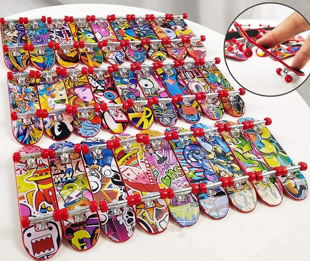 Finger Skateboard Spielzeug Ideal f/ür Weihnachten Mitgebsel Zuf/ällig 6st/ücke Party Favours Kleinspielzeug Mix Beutel Kindergeburtstag Topways/® Finger Mini Skateboard