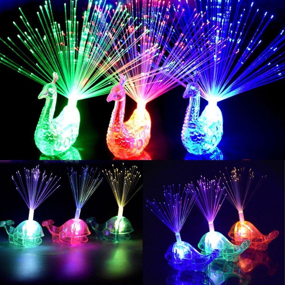 Dsaren 24 Pcs Party Finger Lights LED Light Up Flashing Toys Wedding Favors for Kids