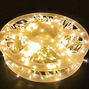 MYGOTO 165FT 500LED String Lights LED Starry Fairy Light, Twinkle String Lights Decorative Lights with 8 Modes 30V Plug in for Wedding,Patio,Gate,Party Indoor Outdoor Decoration (Warm White)