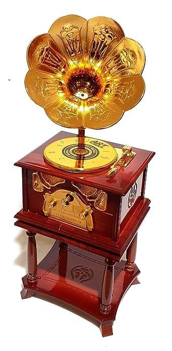Mechanische Musik Schöne Retro Spieluhr Grammophone Grammofon Musik Melodie Spieldose Schallplatte