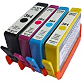 4 x HP Combo Pack Compatible 364XL Ink Cartridges -NEW SHOWS INK LEVELS- To Replace HP364 printer inks cartridge (Contains: 1x Large Black,1x Cyan, 1x Magenta, 1x Yellow) for HP Photosmart 5510, 5511, 5512, 5514, 5515, 5520, 5522, 5524, 6510, 6512, 6515, 6520, 7515, B010a, B109a, B109d, B109f, B109n, B110a, B110c, B110e, HP Photosmart Plus B209a, B209c, B210a, B210c, B210d, HP Deskjet 3070A, 3520, 3522, 3524, Officejet 4610, 4620 High capacity...Global Toners
